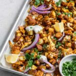 vegan tandoori sheet pan dinner