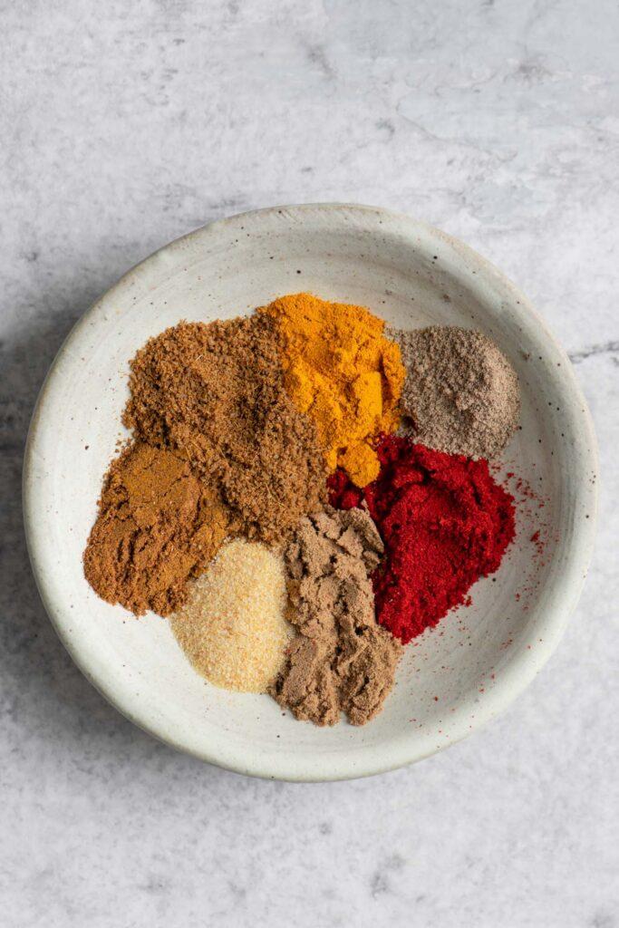 spices for kale pakoras