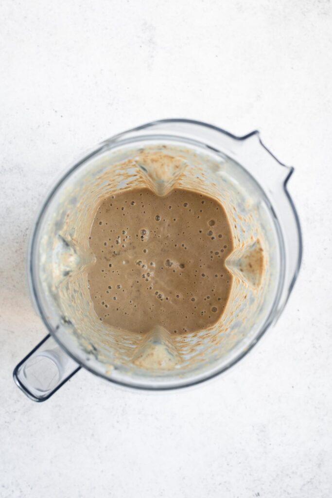 blended vegan mushroom gravy