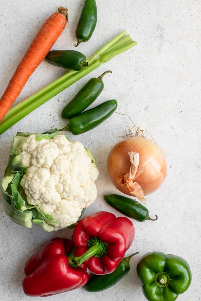 vegetables for giardiniera