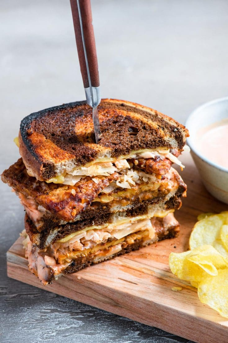 Vegan Reuben Sandwich The Curious Chickpea